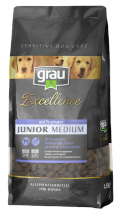 Grau Excellence Junior Medium mit Truthahn